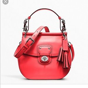 EUC Coach 22382 Leather Willis Crossbody Coral Bag